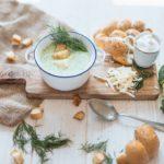 Brokolicový krém s jogurtem